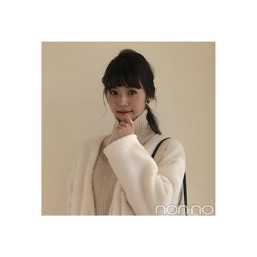 鈴木優華の冬の白が可愛い♡ワントーンコーデ【毎日コーデ】