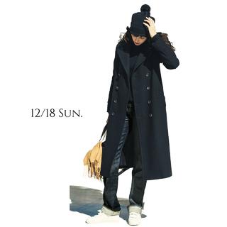可愛すぎるPコートの進化版で、いつものデニムコーデが見違える!