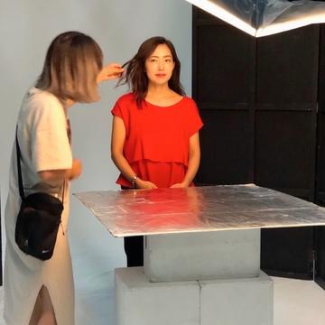 真っ赤なトップスで、新「ジェリーアクアリスタ」の撮影へ♡_1_3