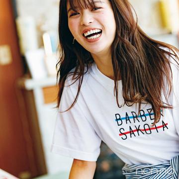 馬場ふみかは話題のロゴTシャツで好感夏カジュアル!【毎日コーデ】