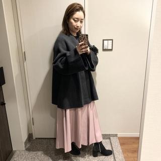 【プリーツスカート似合わないさん】なりのプリーツスカートコーデ