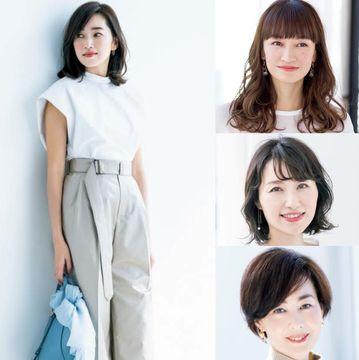モデル・仁香さんの「上向きボブ」&「ボブこなれコーデ」をチェック!【50代髪型人気ランキングTOP10】