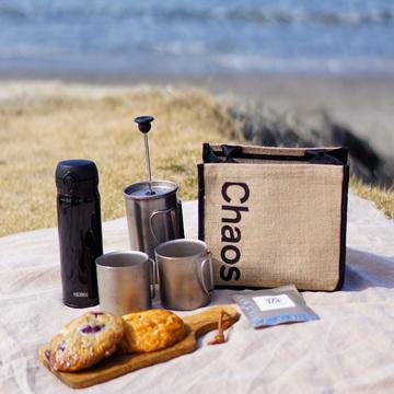 Chaos×eclatのバックで海辺のコーヒータイム♪