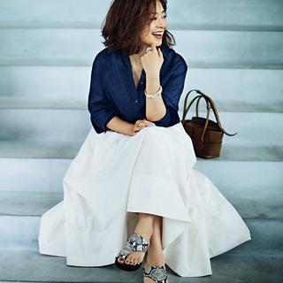 エディター・三尋木奈保の「気分が上がる服」が主役の6つのコーディネート