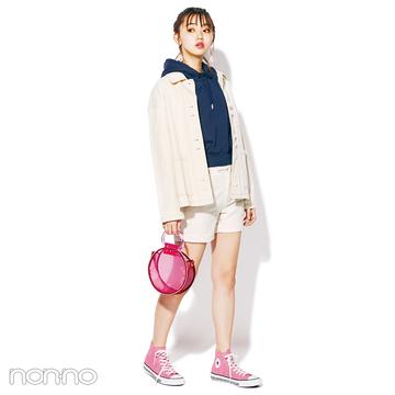 白×ネイビー×ピンク♡ 今日は春色コーデでお出かけ!【毎日コーデ】