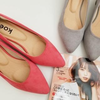 koeの春色フェイクスエードパンプス2990円!!もちろん2色買い♡♡