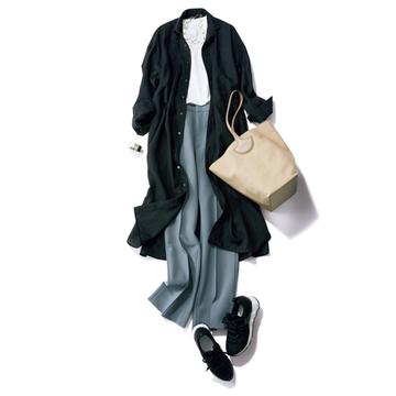 【夏から秋への着回し5】夏のカジュアルアイテム+渋色パンツで秋感漂うスタイルに