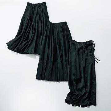 おすすめ黒スカート、人気の3ブランドを編集部が厳選!【アラフィーの新定番は黒スカート】