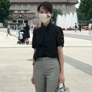 お気に入りのマスクをつけて上野へ♡