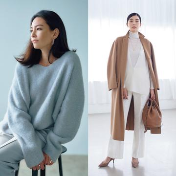 今季ファッションの基本色は「ライトグレー」か「濃いめベージュ」の2択で決まり!