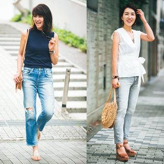 きちんと投資&こまめに更新!夏のデニムコーデ【美女組ファッションSNAP】