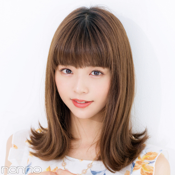 ミディアムさんが前髪と触角まわりで小顔になる方法★超ていねい図解!