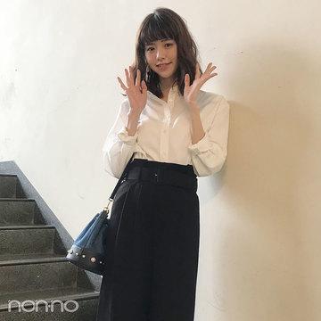 鈴木優華の大人っぽシャツコーデ【毎日コーデ】
