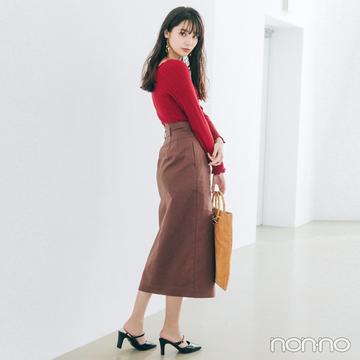 新川優愛はピタリブニットで大人っぽさ2割増し【毎日コーデ】