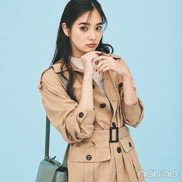 新川優愛はベルト付きジャケットでこなれ見えもスタイルアップも簡単!【毎日コーデ】