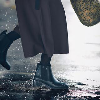 天候を気にせず、いつものおしゃれをこのブーツで