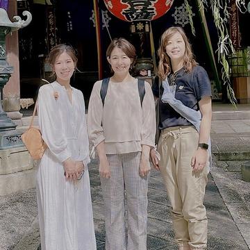 旬ベージュコーデで秋の京都・六角堂散策
