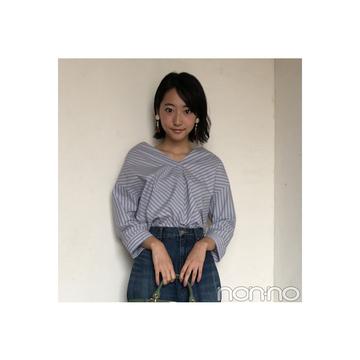 武田玲奈はボリューム袖シャツで大人っぽコーデにアプデ!【毎日コーデ】