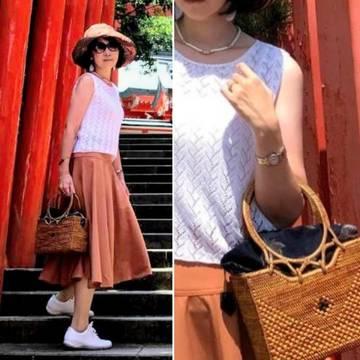 uniquro u のフレアースカートとバリ島ウブドで求めたアタバッグで宮崎の夏!
