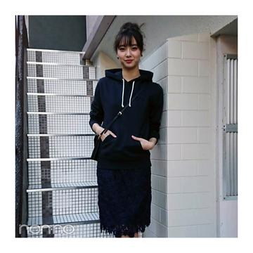 新川優愛のネイビーワントーンでテイストMIXコーデ【毎日コーデ】