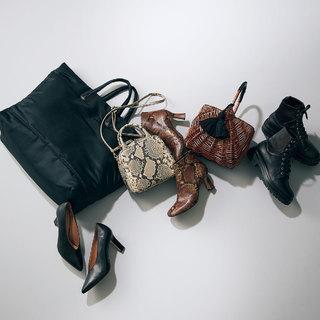 「黒orパイソン柄小物」がベーシックな着こなしの引き締めに【おしゃれプロの冬コーデマイルール】