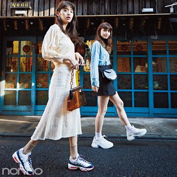 【ゴールデンウィーク】韓国旅行で買い物するなら、疲れないハイテクスニーカーでコーデ!