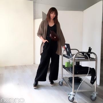 岡本杏理の冬コーデはSALON by PEACH JOHNのふわニットが主役!【モデルの私服】