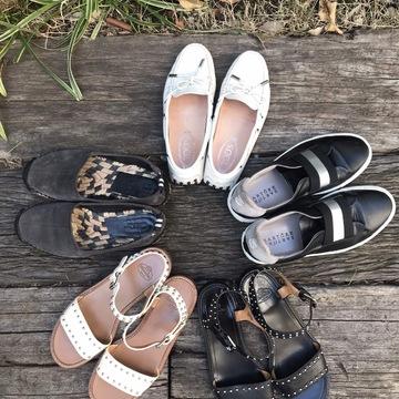 カジュアルにも綺麗目にも、楽でいい靴。