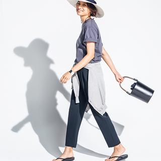 Style【1】パンツの日はトングサンダルで、美脚も抜け感も