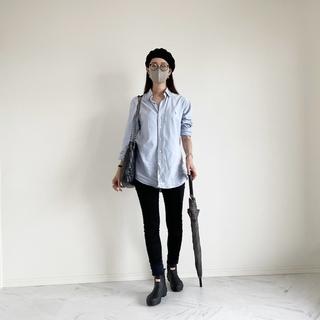 終日雨の日の楽ちんシャツコーデ :OOTD【40代 私のクローゼット】