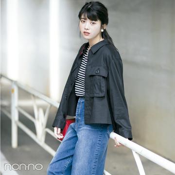 夏服を今すぐ秋顔にイメチェンする方法♡ シャツ型ジャケットをまず一枚!