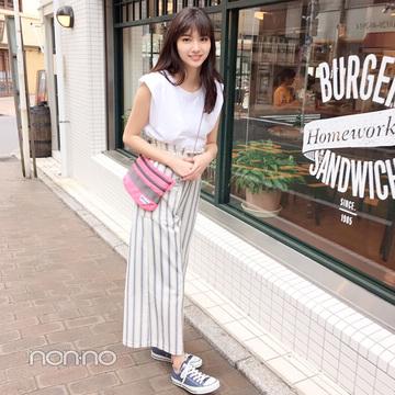 新川優愛は白っぽワントーンのパンツコーデでさわやかに♡【毎日コーデ】