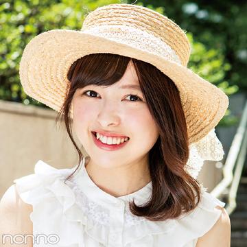 リアルなお手本♡ non-no専属読モ・カワイイ選抜の夏の帽子スナップ!