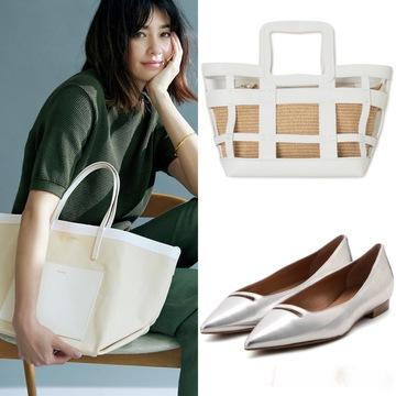 夏の着こなしを涼やかに仕上げる!白&シルバーの靴とバッグ25選