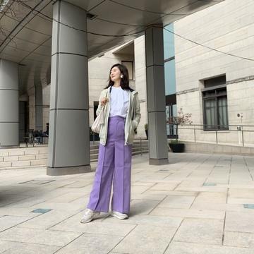 優美な パンツで春気分、2パターン!