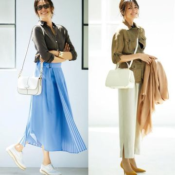 50代の体型悩み「おなか」と「下半身」をカバーするスカートとパンツの正しい選び方