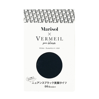 Marisol11月号の付録は、ヴェルメイユ パー イエナの「ニュアンスブラック美脚タイツ」!