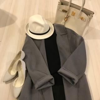 Knit MUJI / Pants UNIQLO / Coat PLST / 帽子 楽天帽子屋Kstyle / Bag Hermes / Shoes Anne Klein