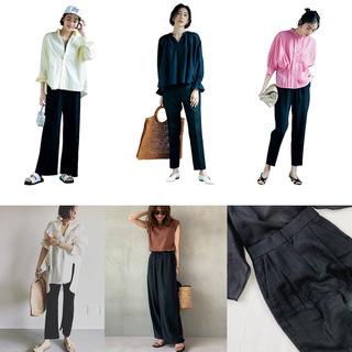 定番の黒パンツを極める!今っぽく、おしゃれで、美脚見えする黒パンツコーデまとめ|40代ファッション