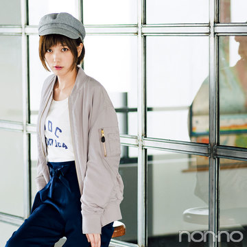 本田翼が着こなす☆春色ブルゾンで無敵な抜け感スタイル3