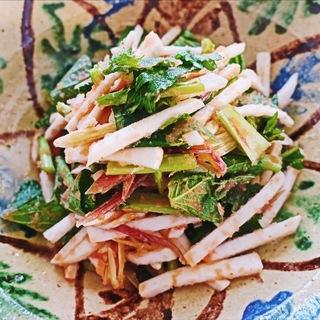 さっぱり夏バテ予防!かぶと香味野菜の明太子和えサラダ