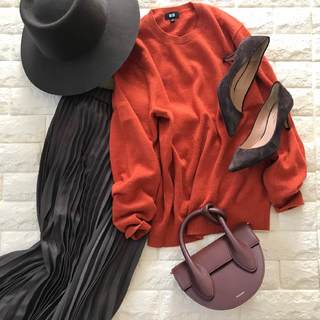 メンズで選ぶ「きれい色」!秋映えするビターオレンジ【高見えプチプラファッション #138】