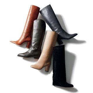"""""""足もとは重ため""""が注目のキーワード「筒太めのロングブーツ」【明日から秋本番まで履ける靴】"""