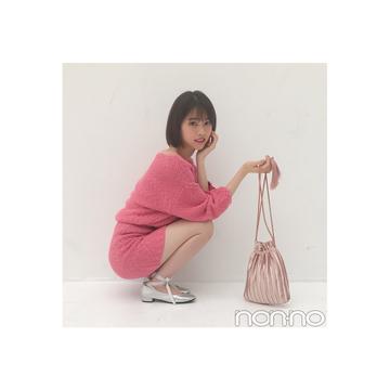 西野七瀬のほんのり肌見せ♡ピンクコーデにキュン!【毎日コーデ】
