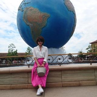 大きめさんのふんわりピンクスカート