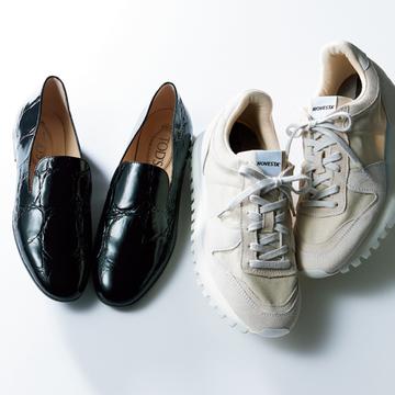 徳原文子さんはマキシスカートに合う2足をセレクト【おしゃれプロのスニーカーともう一足】