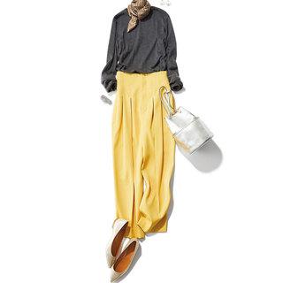 着こなしを新鮮に見せるイエローコーデ20選。華やかだけど派手すぎずしゃれ感がかなう!