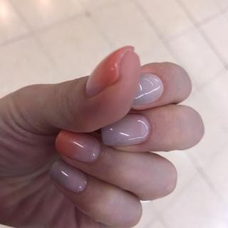 夏映えオレンジシャドウ&グレーネイル♡_1_2