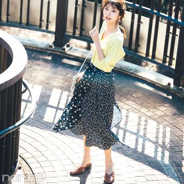マーキュリーデュオの花柄切り替えスカートが可愛い!