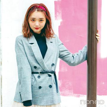 江野沢愛美がお手本♡ チェック柄ジャケットの冬の更新コーデはコレ!